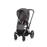 POUSSETTE E-PRIAM MANHATTAN GREY CHASSIS ROSEGOLD CYBEX
