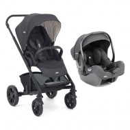 DUO POUSSETTE CHROME EMBER + COSY I-GEMM PAVEMENT JOIE