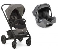 DUO POUSSETTE CHROME Foggy Grey + COSY I-GEMM I-SIZE JOIE BABY