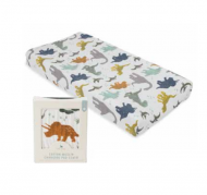 HOUSSE DE MATELAS A LANGER DINO FRIENDS LITTLE UNICORN