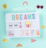 SET DE LETTRES AMERICAN DREAMS POUR BOITE LUMINEUSE A LITTLE LOVELY COMPANY