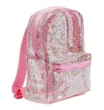SAC A DOS TRANSPARENT ROSE PAILLETTES LITTLE LOVELY COMPANY