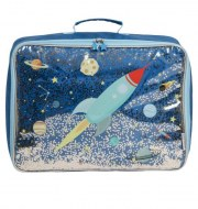 VALISE ESPACE GLITTER A LITTLE LOVELY COMPANY