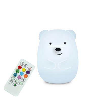 GRANDE VEILLEUSE SILICONE OURS LIGHTS 4 KIDS