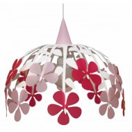 SUSPENSION BOUQUET IVOIRE/ ROSE /FRAMBOISE R&M COUDERT