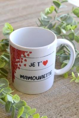"""MUG """"Je t'❤ MAMOUNETTE"""""""