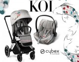 DUO KOI POUSSETTE PRIAM + COQUE ALLONGEABLE CLOUD Q COLLECTION KOI CYBEX