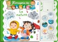 """LIVRE SONORE """"IMAGERIE DES BÉBÉS"""" : LA NATURE FLEURUS"""