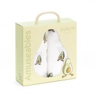 COFFRET CADEAU LOT DE 2 LANGES AVOCAT AMUSEABLE JELLYCAT