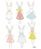 STICKERS LAPINS FILLE LILIPINSO