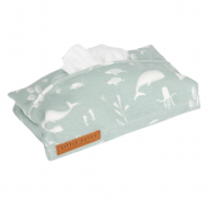 HOUSSE POUR LINGETTES OCEAN MINT LITTLE DUTCH