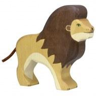 FIGURINE EN BOIS ANIMAUX SAUVAGES : LION HOLZTIGER