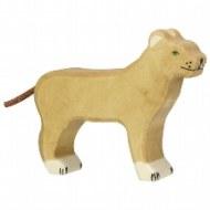 FIGURINE EN BOIS : LIONNE HOLZTIGER