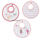 LOT DE 3 BAVOIRS NAISSANCE LITTLE LAMA LITTLE BAND