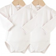 LOT DE 2 BODIES BLANC CROISES