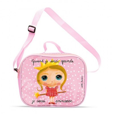 "SAC ISOTHERME LUNCH BAG ""JE SERAI PRINCESSE"" LABEL' TOUR"