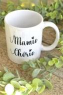 "MUG BLANC ""MAMIE CHÉRIE"" pardeuxcestmieux"