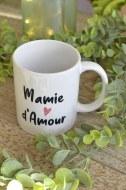 """MUG BLANC """"MAMIE D'AMOUR"""" pardeuxcestmieux"""