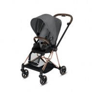 POUSSETTE MIOS PLUS MANHATTAN GREY CHASSIS ROSE GOLD CYBEX