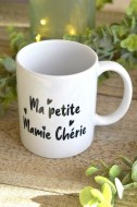 "MUG BLANC ""MA PETITE MAMIE CHÉRIE"" pardeuxcestmieux"