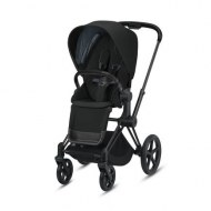 POUSSETTE PRIAM PLATINUM MATT BLACK DEEP BLACK CYBEX