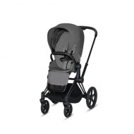 POUSSETTE PRIAM PLATINUM MATT BLACK MANHATTAN GREY PLUS CYBEX