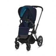 POUSSETTE PRIAM PLATINUM MATT BLACK NAUTICAL BLUE CYBEX