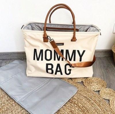 SAC A LANGER MOMMY BAG LARGE blanc cassé CHILDHOME