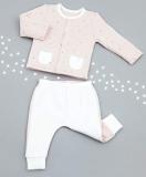 LEGGING POIS ROSE COTON BIO/BAMBOU 0-3mois MORI BABY