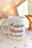 """MUG BLANC """"MEILLEURE MAMIE DU MONDE"""" pardeuxcestmieux"""