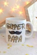 MUG PERSONNALISÉ SUPER PAPA moustache