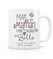 """MUG """"MA MAMAN C'EST LA PLUS BELLE"""" CRÉABISONTINE LABEL'TOUR"""