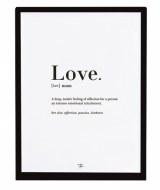 AFFICHE ENCADRÉE LOVE LILIPINSO