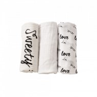 LOT DE 3 LANGES MOUSSELINE LOVE&SWEET TROIS KILOS SEPT