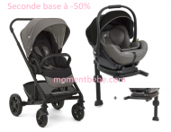 PACK POUSSETTE CHROME FOGGY GREY + COQUE I-LEVEL GREY FLANNEL + 2 BASES JOIE BABY