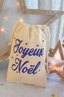 "POCHETTE POUR OFFRIR ""JOYEUX NOEL"" bleu 20 x 14 cm"