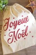 """POCHON POUR OFFRIR """"JOYEUX NOEL"""" 40 x 45 cm"""