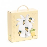 COFFRET CADEAU LOT DE 2 LANGES ANANAS AMUSEABLE JELLYCAT