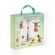 COFFRET CADEAU LOT DE 2 LANGES BASHFUL SINGE JELLYCAT