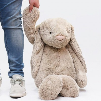 PELUCHE VERY BIG BASHFUL LAPIN BEIGE JELLYCAT 108cm