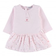 ROBE ROSE MANCHES LONGUES 3 mois NOUKIES