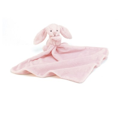 DOUDOU COUVERTURE BASHFUL ROSE BUNNY SOOTHER JELLYCAT