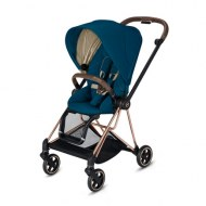 POUSSETTE MIOS MOUNTAIN BLUE CHASSIS ROSE GOLD CYBEX