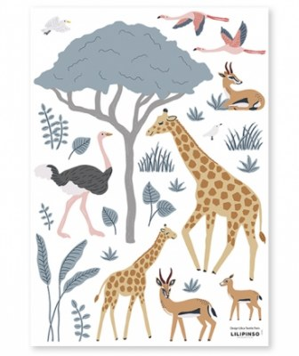 STICKERS MURAUX ANIMAUX SAUVAGES LILIPINSO
