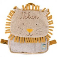 SAC A DOS LION SOUS MON BAOBAB MOULIN ROTY (personnalisable)