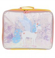 VALISE LICORNE GLITTER A LITTLE LOVELY COMPANY