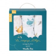 LOT DE 3 LANGES LE VOYAGE D'OLGA MOULIN ROTY