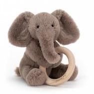 JOUET ANNEAU EN BOIS SHOOSHU ELEPHANT JELLYCAT