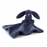 DOUDOU COUVERTURE LAPIN SOOTHER NAVY BLUE JELLYCAT