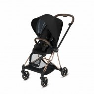 POUSSETTE MIOS PLUS STARDUST BLACK CHASSIS ROSE GOLD CYBEX